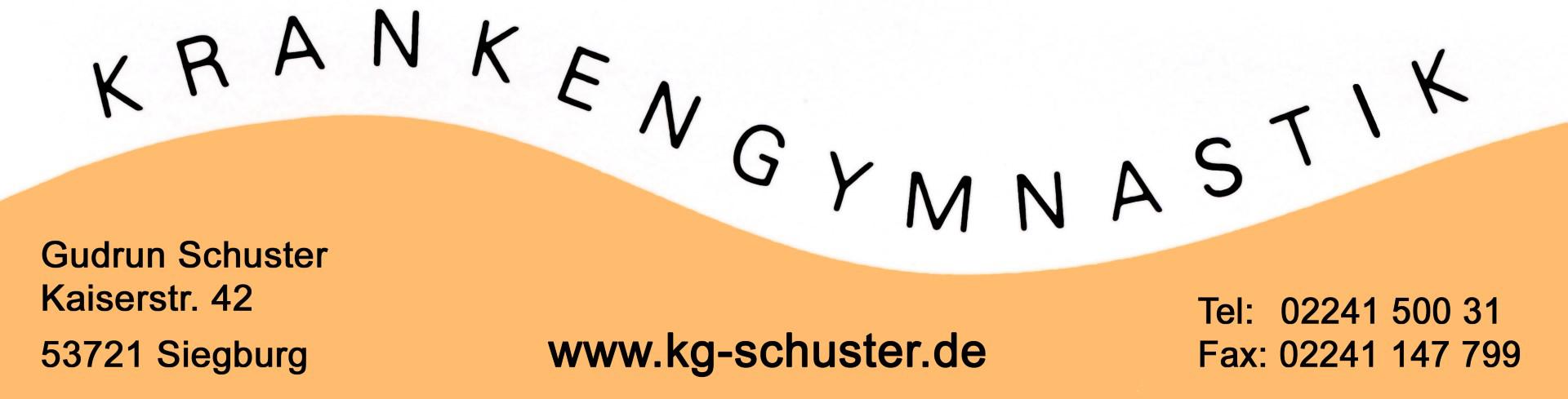 Das Bild zeigt das Logo der Praxis für Physiotherapie und Krankengymnastik Schuster