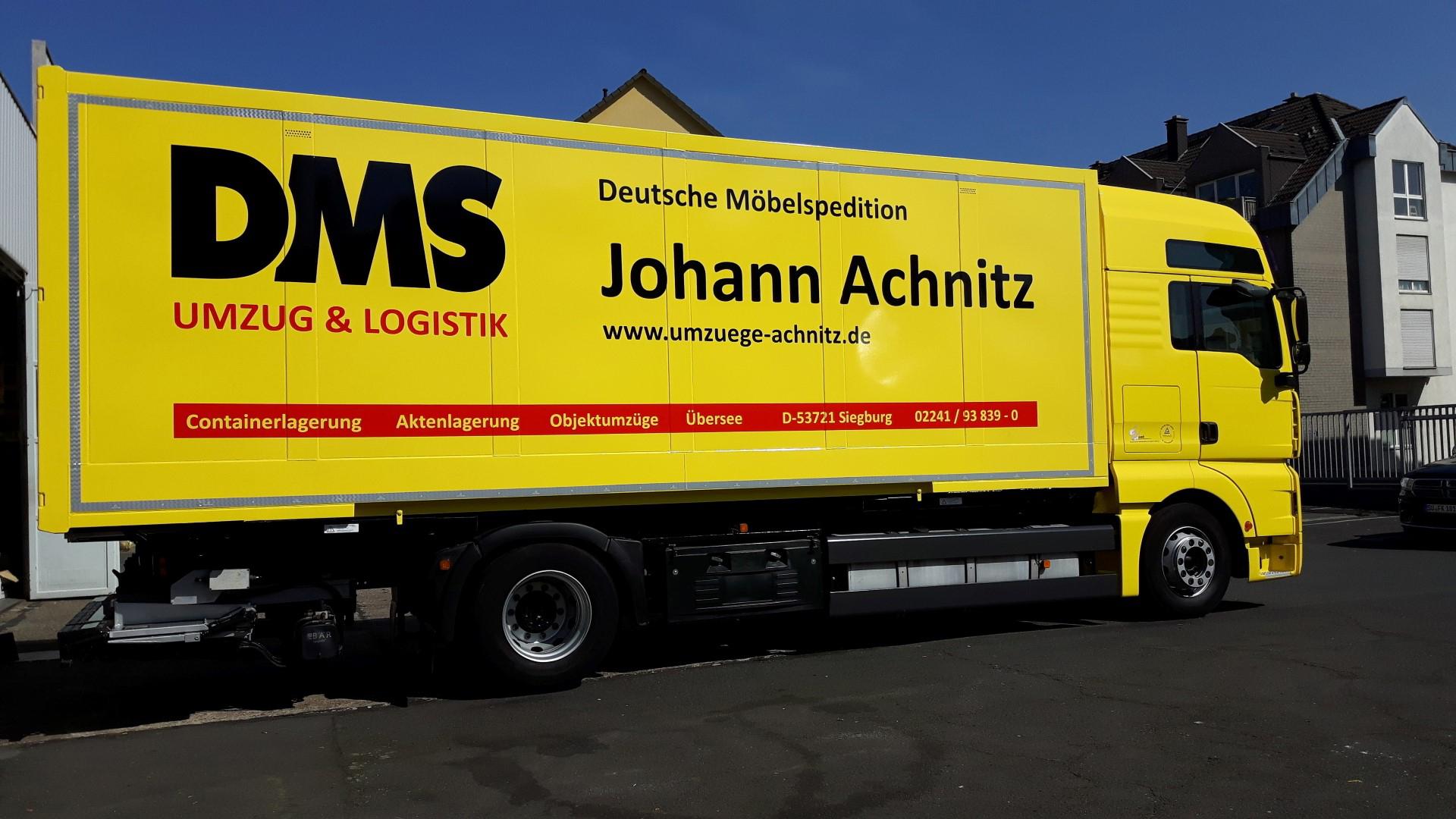 Das Bild zeigt das Umzugs- und Logistikunternehmen Johann Achnitz GmbH