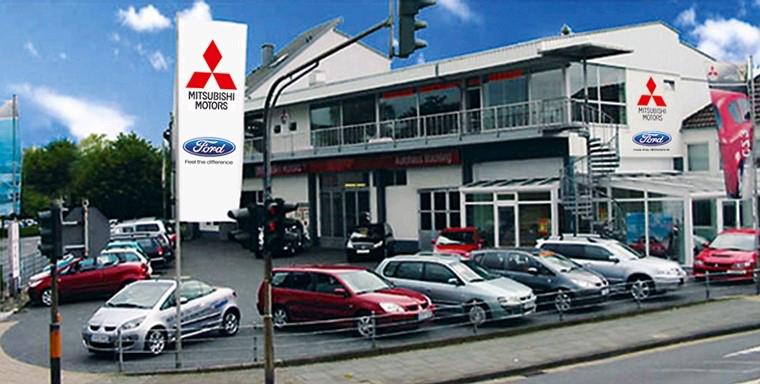 Das Bild zeigt das Firmengelände der Autohaus Büchling GmbH