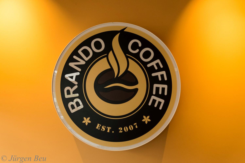 Das Bild zeigt das Logo von Brando Coffee