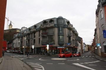 Das Bild zeigt den Blick auf das Praxisgebäude der Praxis für Neurologie und Psychiatrie in Siegburg