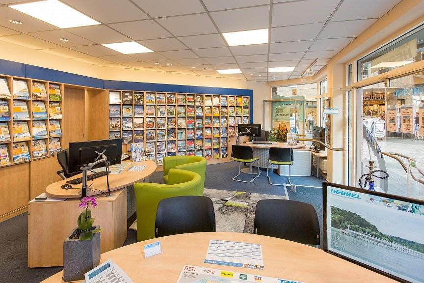 Das Bild zeigt die Räumlichkeiten vom Reisebüro Hebbel in Siegburg