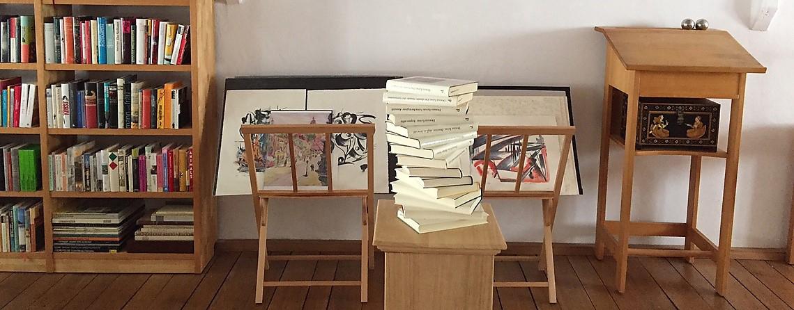 Das Bild zeigt die Innenräume der Bernstein-Verlagsbuchhandlung, Gebrüder Remmel