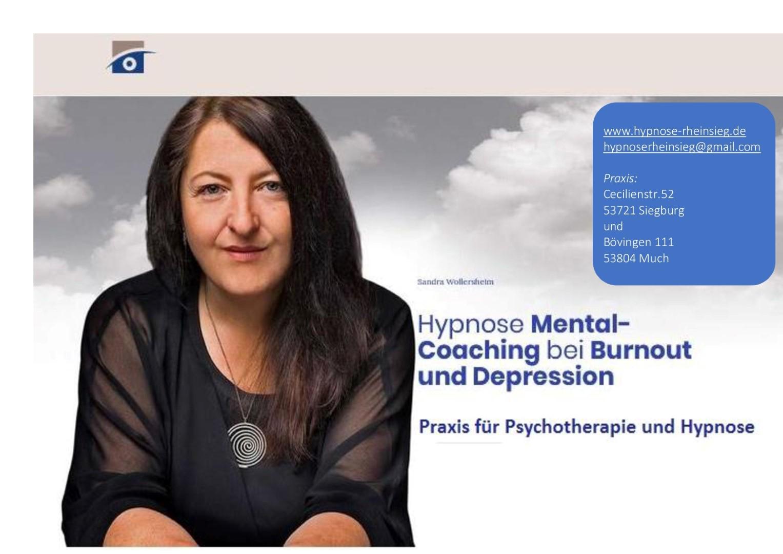 Das Bild zeigt ein Plakat des Hypnose Instituts Rheinsieg