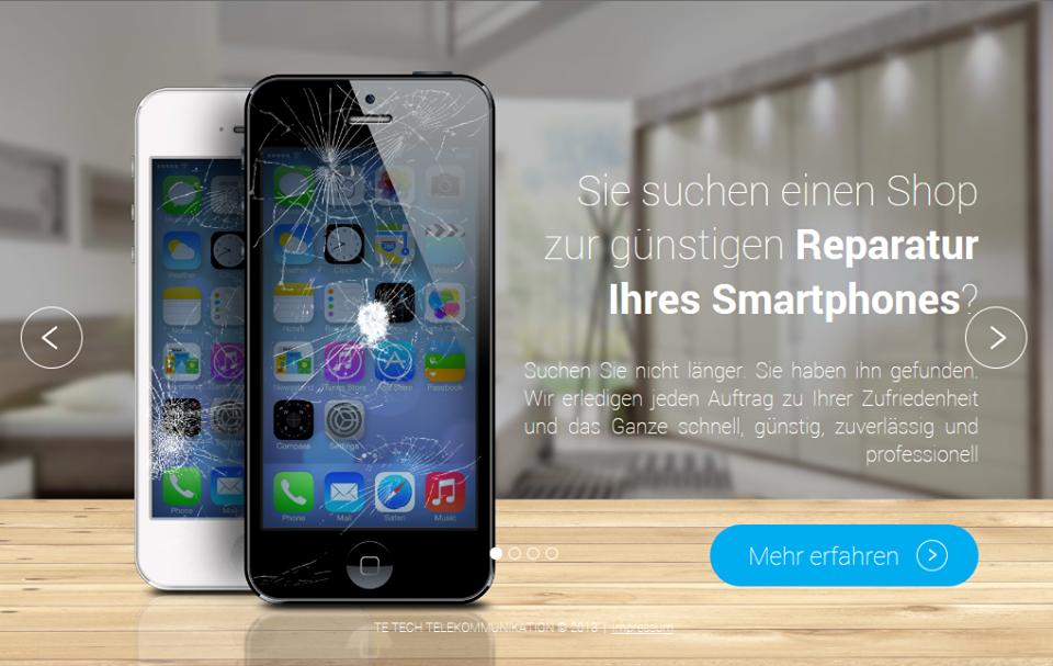 Das Bild zeigt ein Werbeplakat der Te-Tech-Telecommunication e.K.