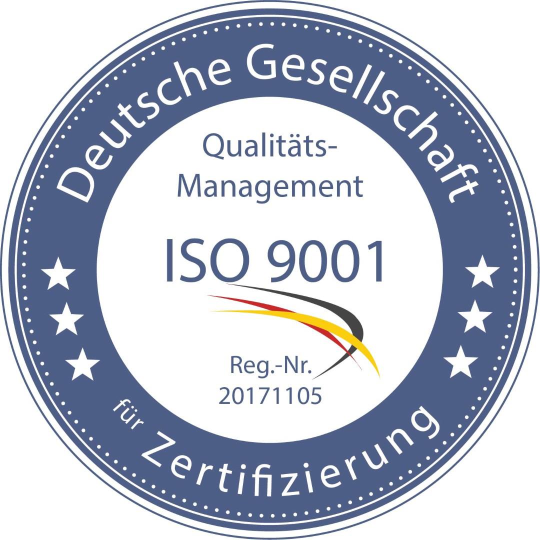 Das Bild zeigt das Logo der deutschen Gesellschaft für Zertifizierung
