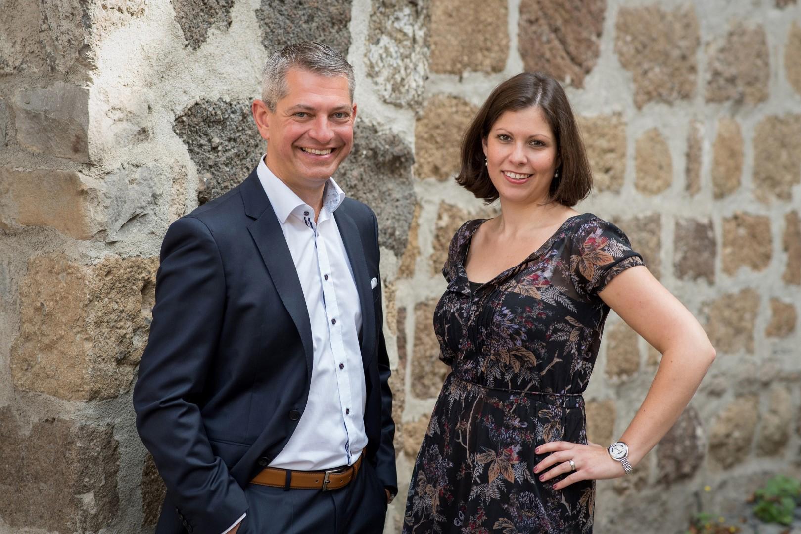 Das Bild zeigt Michael Wiesendorf und Tanja Geblonsky