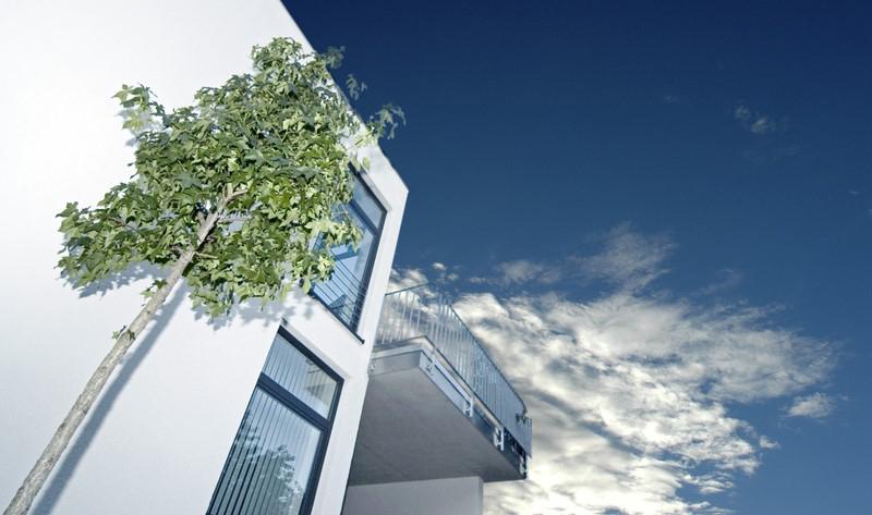 Das Bild zeigt ein Wohngebäude