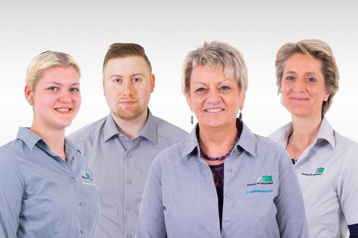 Das Bild zeigt das Team von rahm Zentrum für Gesundheit in der Wilhelmstraße