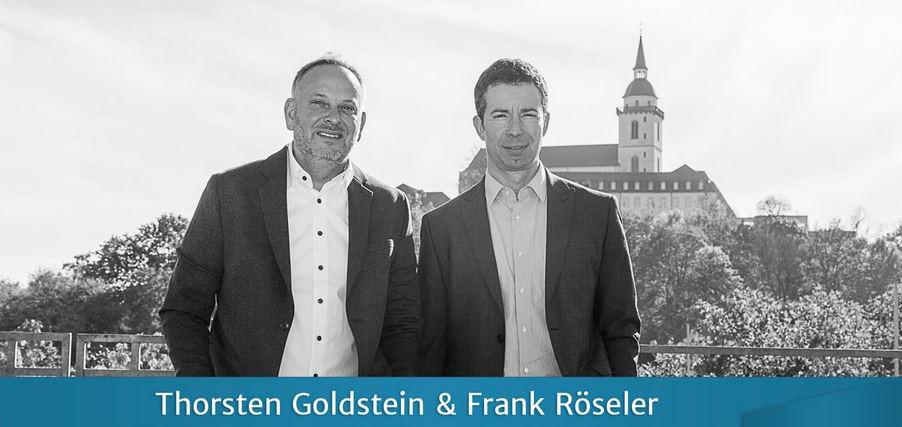 Das Bild zeigt Throsten Goldstein und Frank Röseler