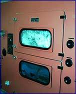 Das Bild zeigt die Waschmaschine zur Reinigung von Federbetten