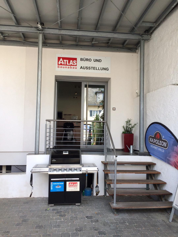 Das Bild zeigt das Firmengelände der Atlas Saunabau GmbH