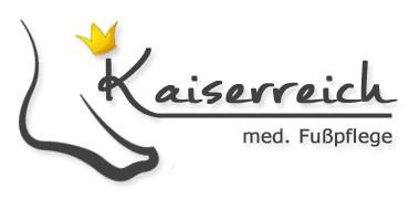 Das Bild zeigt das Logo von Kaiserreich med. Fußpflege