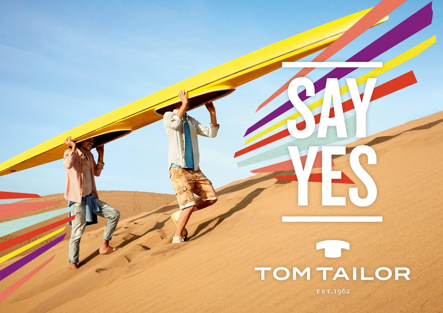 Das Bild zeigt ein Werbefoto der TOM TAILOR GmbH