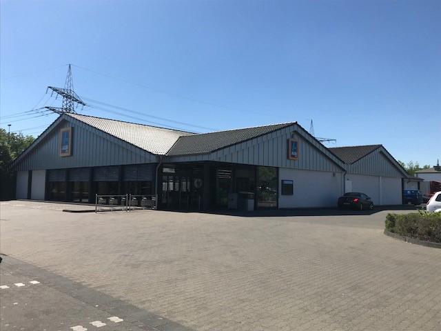 Das Bild zeigt die ALDI Süd Filiale auf der Industriestraße in Siegburg