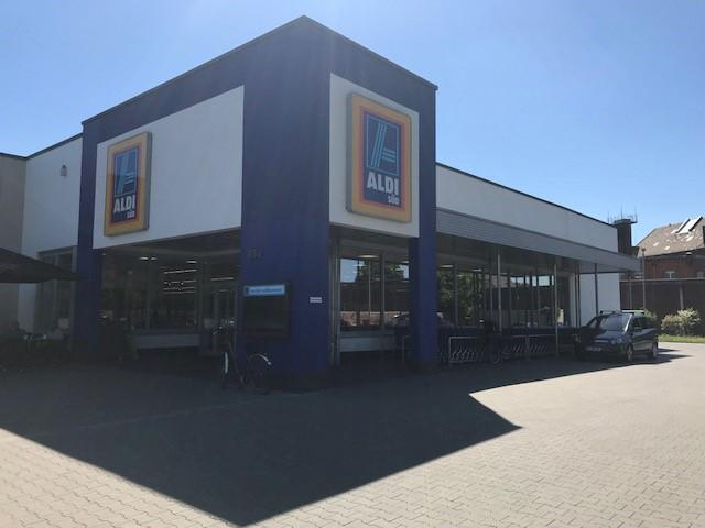 Das Bild zeigt die ALDI Süd Filiale auf der Luisenstraße in Siegburg
