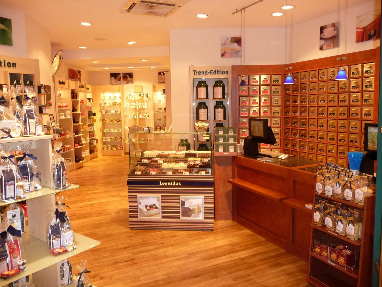 Das Bild zeigt den Verkaufsraum von TeeGschwender in Siegburg