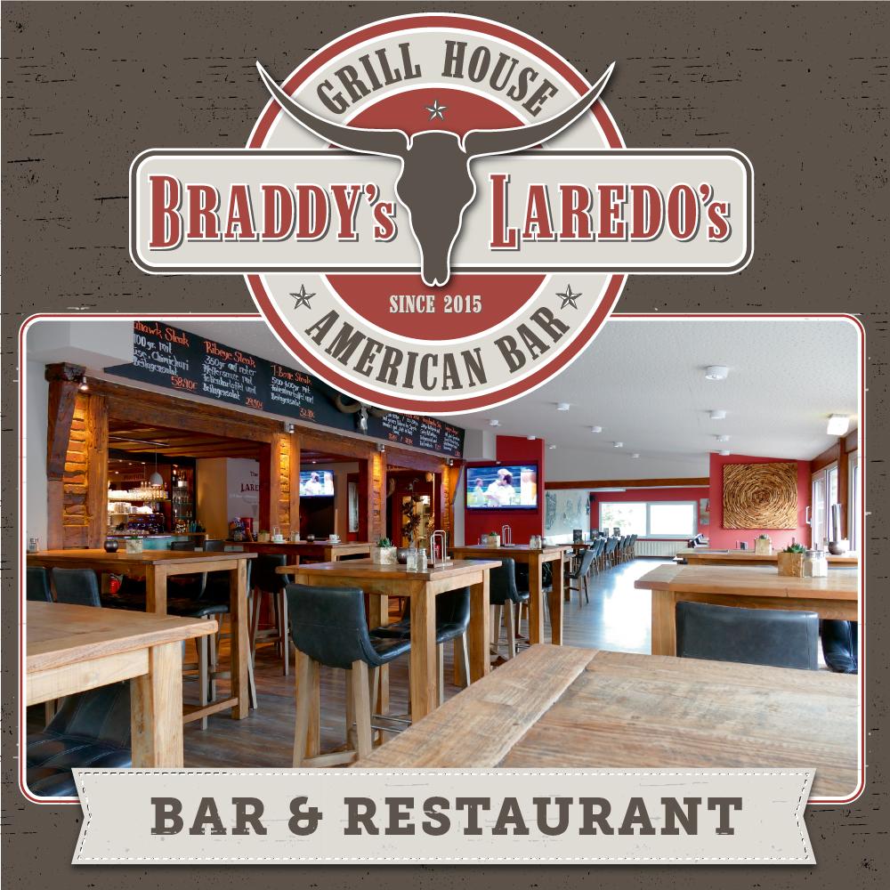 Das Bild zeigt den Bar- und Restaurantbereich von Braddy´s Laredos´s in Siegburg