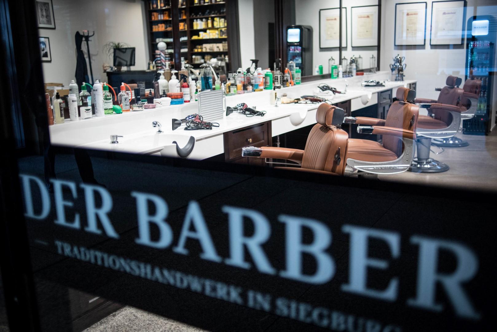 Auf dem Bild ist der Barbershop in der Siegburger Marktpassage zu sehen