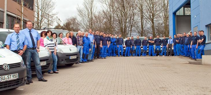 Das Bild zeigt das Team von Dr. Starck Gebäude- und Umwelttechnik GmbH