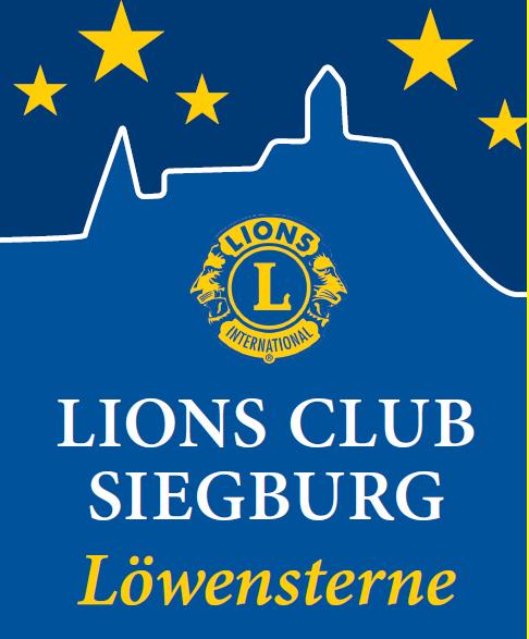 Das bild zeigt das Logo des Lions Club Siegburg Löwensterne e.V.