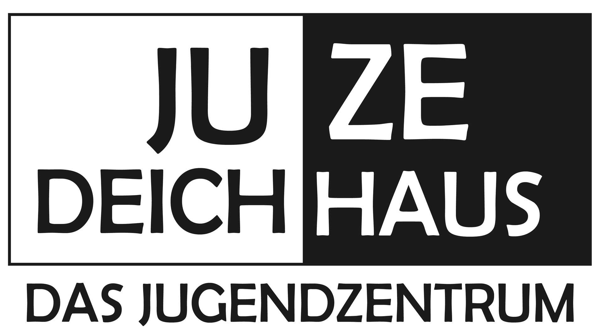 Das Bild zeigt das Logo der JUZE Deichhaus