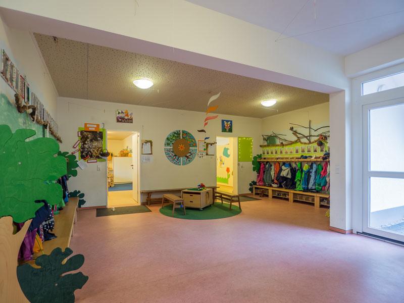 Das Bild zeigt die Räumlichkeiten der Kindertagesstätte Rabennest