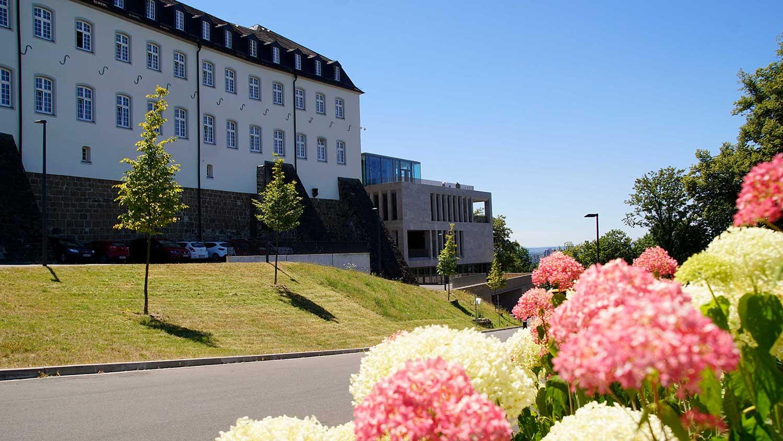 Das Bild zeigt die Zufahrt zum Katholisch-Soziales Institut