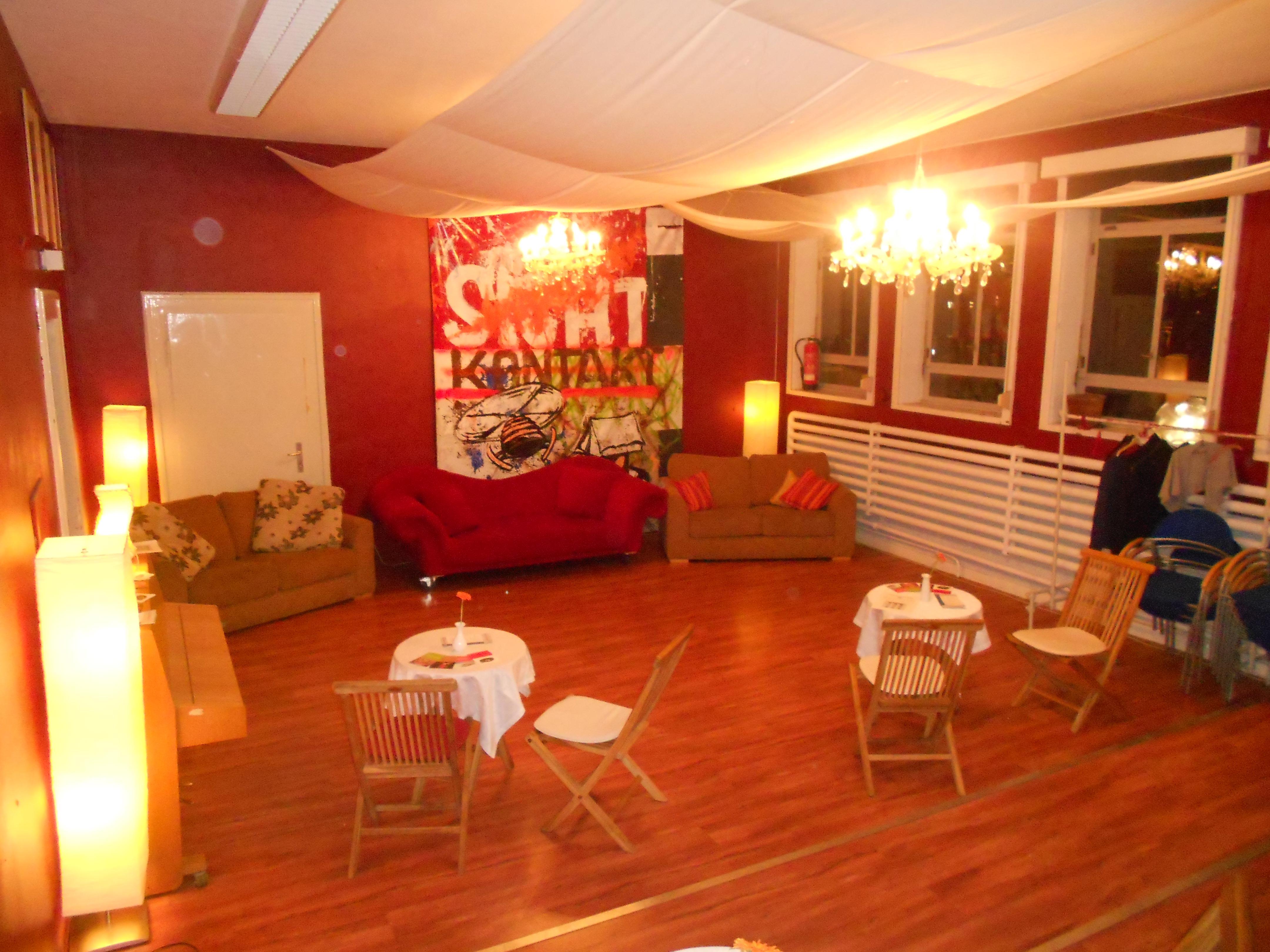 Auf dem Bild sieht man das Foyer der Studiobühne Siegburg