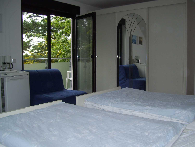 Das Bild zeigt das Schlafzimmer der Pension Peukert