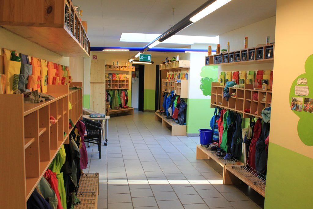 Das Bild zeigt die Räumlichkeiten der Kindertagesstätte PänzHuus