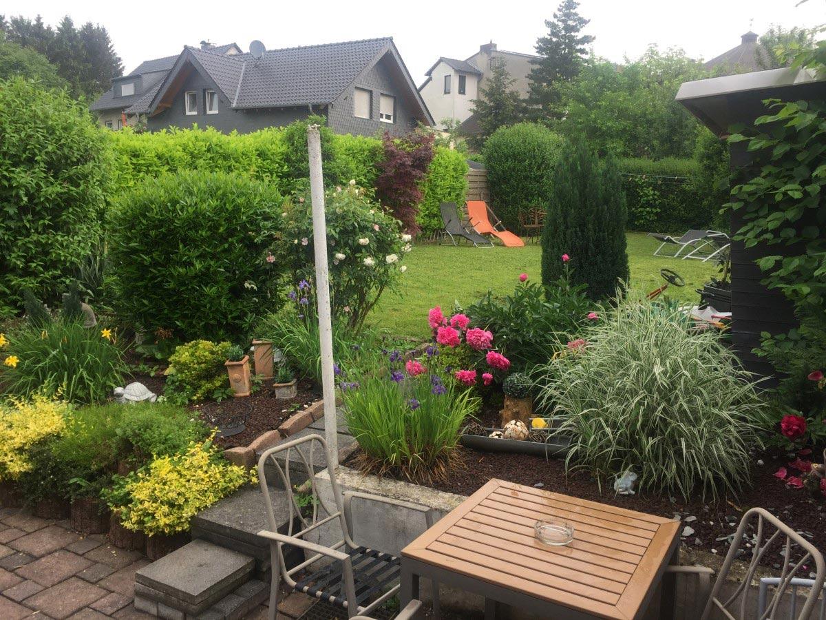 Auf den Bild sieht man den Außenbereich der Ferienwohnung Amadeus in Siegburg