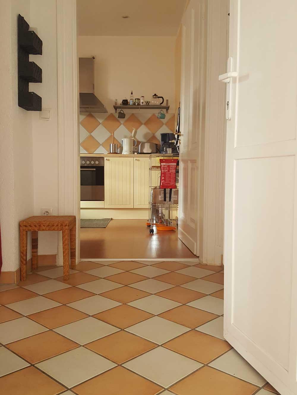 Das Bild zeigt den Eingangsbereich der Ferienwohnung Apartment Leonardo