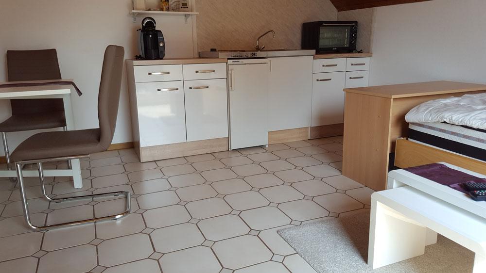 Küchenbereich der Ferienwohnung Thamm