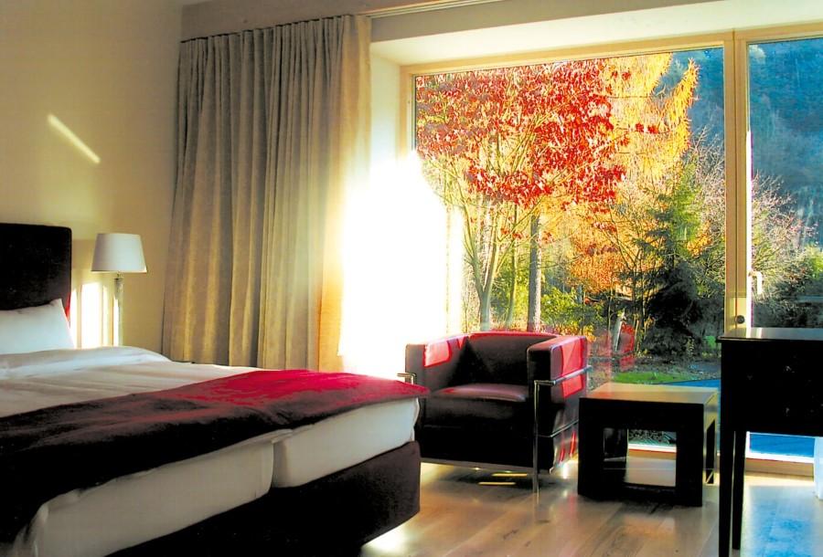 Das Bild zeigt ein Zimmer der Villa Waldesruh