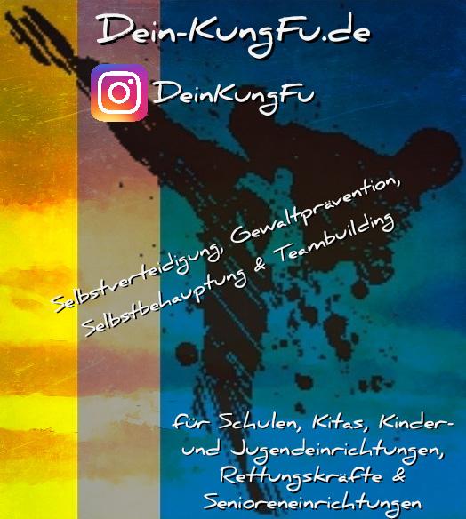 Werbegrafik für die Instagramseite von Selbstverteidigung - Gewaltprävention André u. Ann-Sophie Hertel GbR