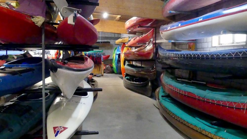 Bild vom Vereinsheim - Bootshalle