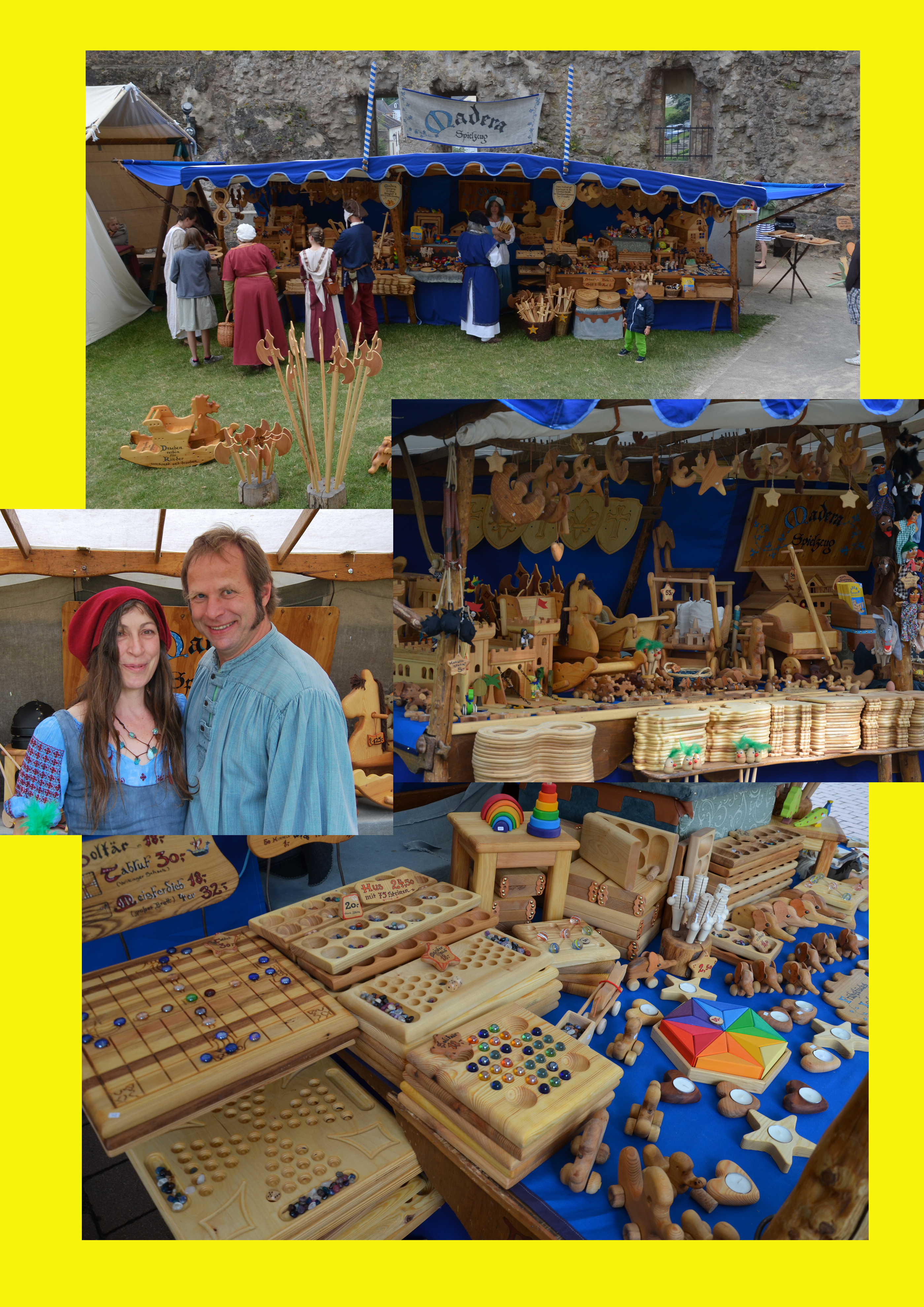 Foto vom Holzspielzeug und Stand