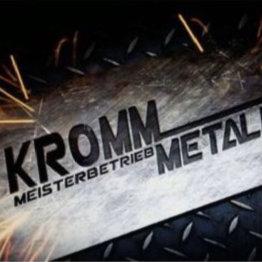 Auf dem Bild ist das Logo der Firma Kromm Metallbau zu sehen