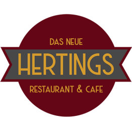 Das Bild zeigt das Logo von HERTINGS Restaurant & Café
