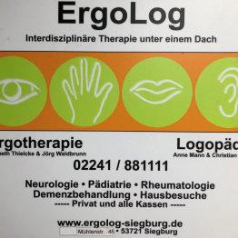 Das bild zeigt das Logo der ErgoLog Praxis für Logopädie Anne Mann und Christian Monke
