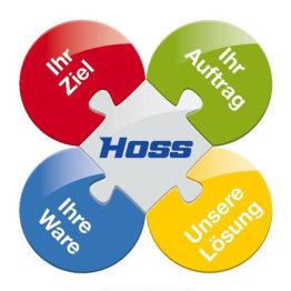 Das Bild zeigt das Logo der Spedition Hoss GmbH & Co. KG