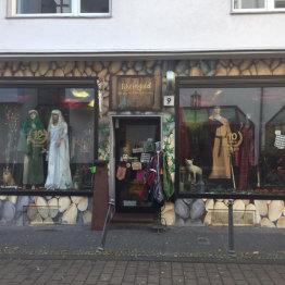 Das Bild zeigt den blick von der Straße auf den Shop Rheingold