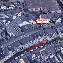 Das Bild zeigt die Lage des Foto & Digital Zentrum Siegburg